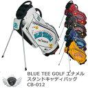 BLUE TEE GOLF ブルーティーゴルフ エナメルスタンドキャディバッグ CB-012