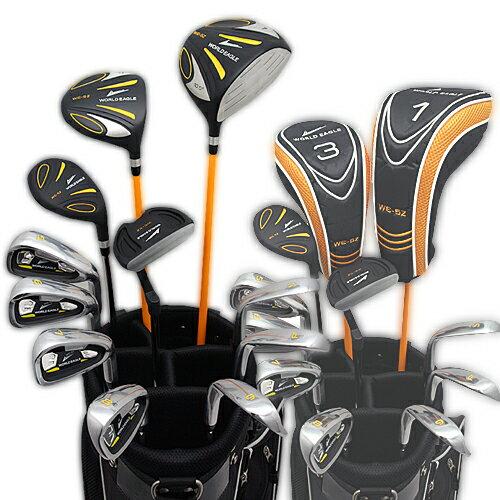ワールドイーグル 5Z-BLACK メンズゴルフクラブ14点フルセット 4色から選べるバッグ! 右用 【あす楽】