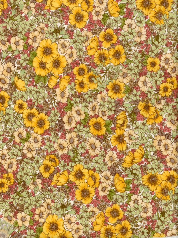 LIBERTY国産リバティカットクロスGloria Flowers(グロリア・フラワーズ)エターナル柄イエロー