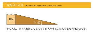 段差解消スロープ室内・屋外兼用ダイヤスロープDS100-15幅100cm高さ1.5×奥行5.5cmビス穴あり/シンエイテクノ