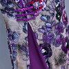 Qipao long shot big size M L XL XXL size purple purple long sleeves ワンピースアオザイチャイナドレスコスプレセクシーチャイナ clothes erhu concert presentation wedding ceremony costume play dress party Halloween Christmas