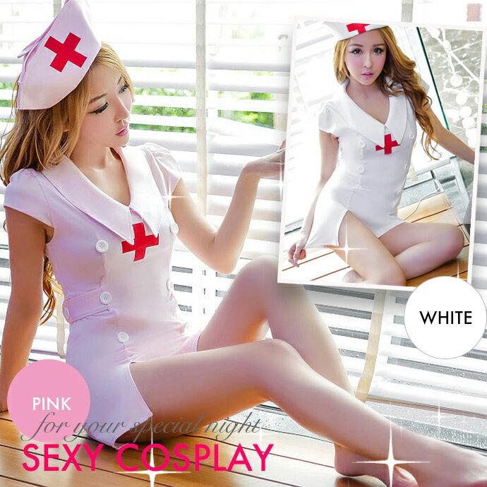 ナース コスチューム セクシーランジェリー ミニスカート ワンピース コスプレ アダルト 大人のおもちゃ ハロウィン 看護婦 看護師 看護士 コスチューム シークレット包装 衣装 白ホワイト ピンク ショーツ Tバック 新着