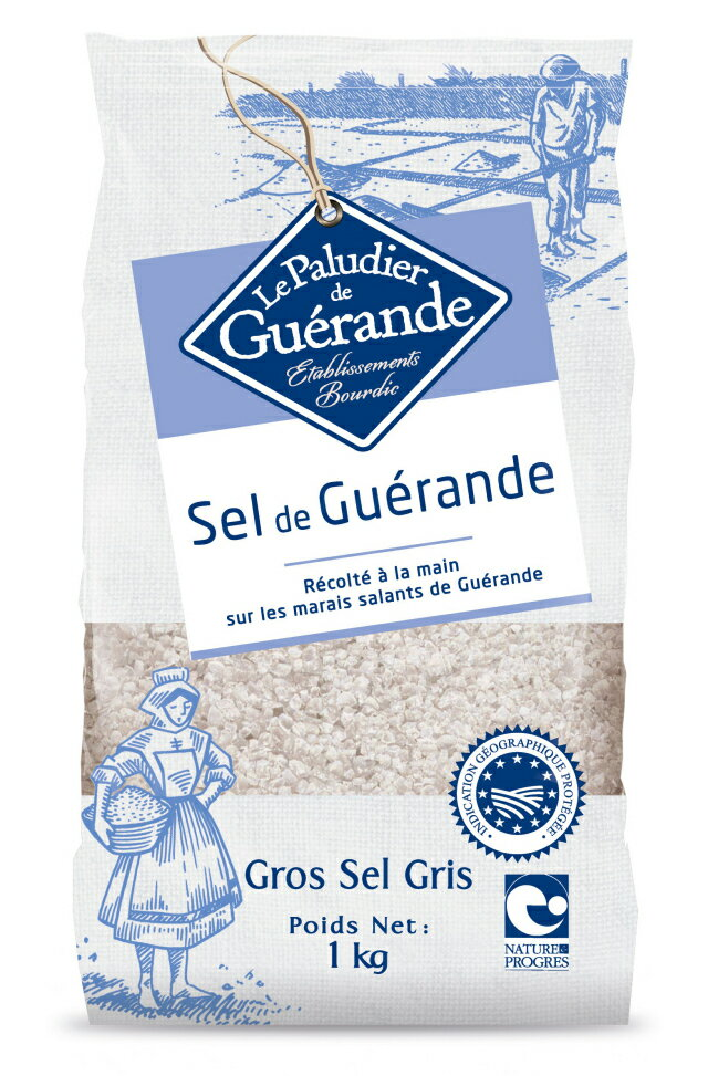 【ポイント最大43倍】ゲランドの塩 粗塩 1kg(セル・マラン・ド・ゲランド・グロ・グリ)