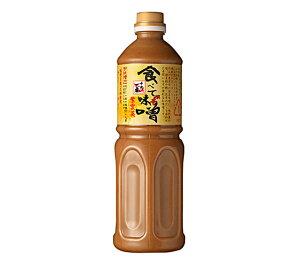 【正規品】千代の一番 食べて味噌【液体味噌】1000ml 日本伝統調味料の最高級お味噌(みそ(大豆:遺伝子組換えでない)、砂糖、醗酵調味料、食塩、鰹節、酵母エキス、昆布、<原材料の一部