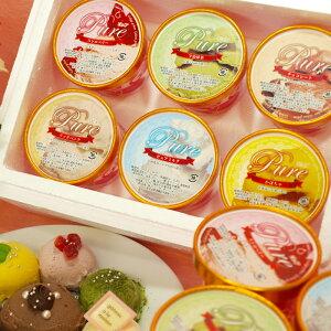 ピュアジェラート ギフトセット アイスクリーム 厳選6種類カップ 132ml×6パック ギフト 送料無料 業務用 家庭用 詰め合わせ バニラ いちご ジェラート 出産祝い アイス スイーツ 抹茶 高級ア
