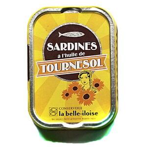 ブルターニュ海産物缶詰 クラシックサンフラワー オイルサーディン 12個セット送料無料【産直】フランス北西部【鰯】【いわし】