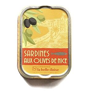ブルターニュ海産物缶詰 クラシック オイルサーディン・オリーブの実 フランス北西部【鰯】【いわし】12個入り、1ケース