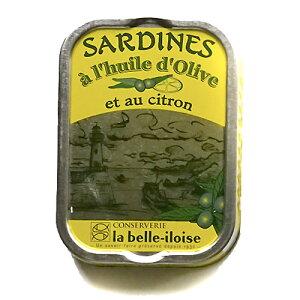 ブルターニュ海産物缶詰 クラシック オイルサーディン シトロン風味 フランス北西部【鰯】【いわし】12個入り、1ケース