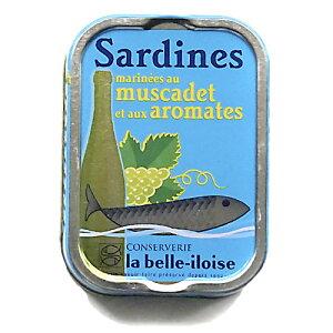 ブルターニュ海産物缶詰 クラシック オイルサーディン 白ワインと香草風味 フランス北西部【鰯】【いわし】12個入り、1ケース【送料無料】