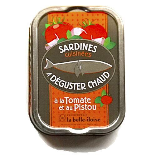 ブルターニュ海産物缶詰 トマトとバジル風味オイルサーディン 【加熱専用商品】フランス北西部【鰯】【いわし】20個入り、1ケース
