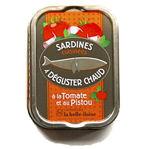 【ポイント最大44倍】ブルターニュ海産物缶詰 トマトとバジル風味オイルサーディン 【加熱専用商品】フランス北西部【鰯】【いわし】12個入り、1ケース