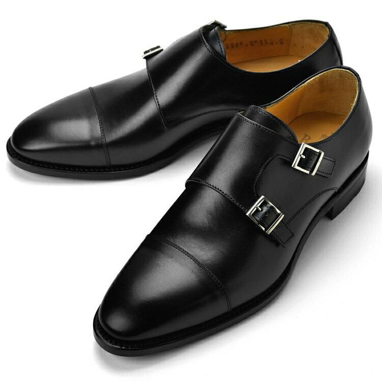 バーウィック BERWICK ダブルモンクストラップ 3637 ブラック 【サイズ交換無料】【ドレスシューズ 革靴 ビジネス メンズ インポート】