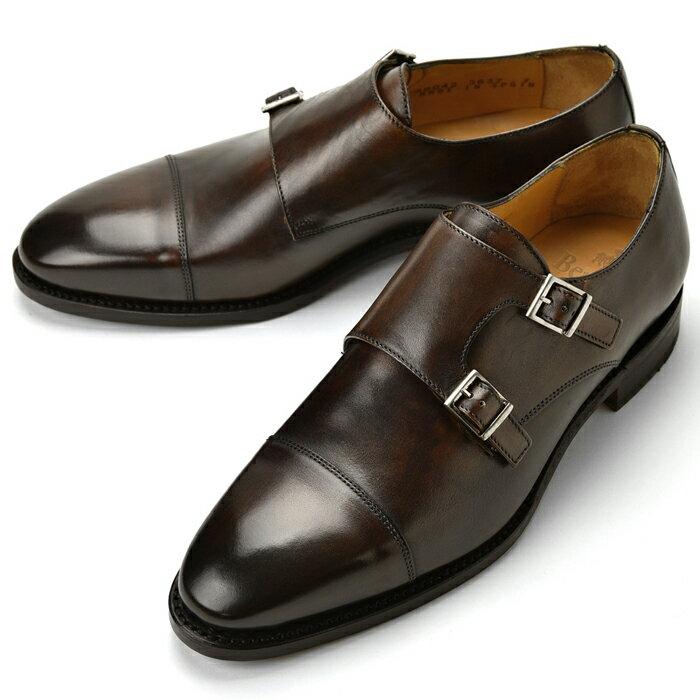 バーウィック BERWICK ダブルモンクストラップ 3637 ダークブラウン 【サイズ交換無料】【ドレスシューズ 革靴 ビジネス メンズ インポート】