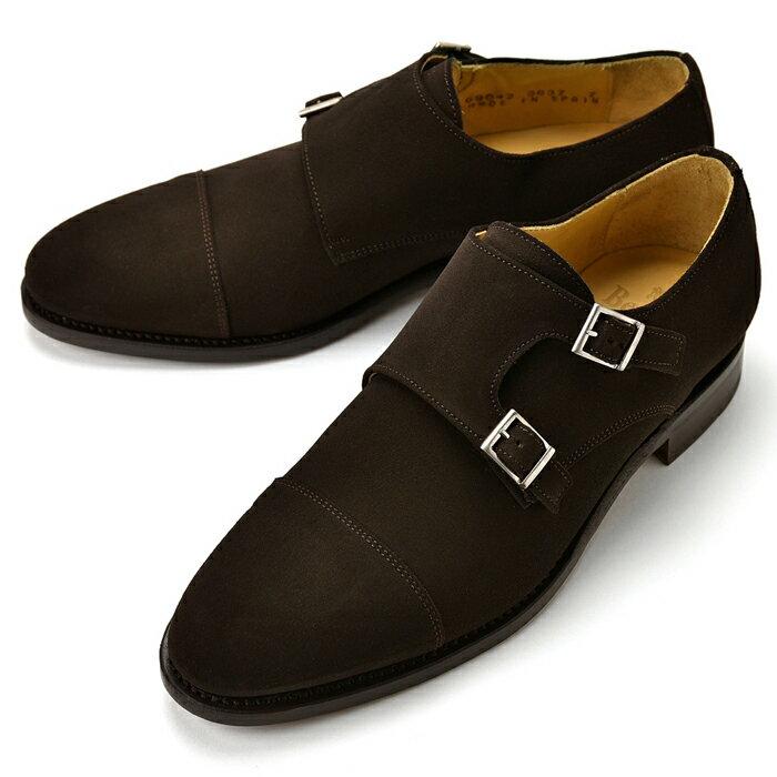 バーウィック BERWICK ダブルモンクストラップ 3637 スエード ダークブラウン 【サイズ交換無料】【ドレスシューズ 革靴 ビジネス メンズ インポート】