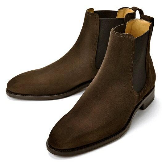 【クリアランスセール】【通常32,400円】バーウィック BERWICK サイドゴアブーツ 400 スエード ダークブラウン【ドレスシューズ 革靴 ビジネス メンズ インポート】