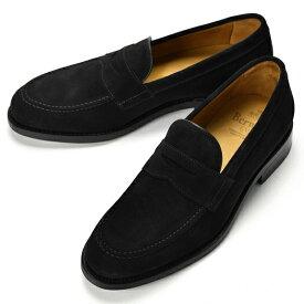 バーウィック BERWICK ローファー 4545 スエード ブラック【ドレスシューズ 革靴 ビジネスシューズ メンズ インポート】