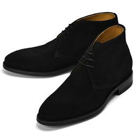 【クリアランス】バーウィック BERWICK チャッカブーツ 307 スエード GUM OIL NEGRO ブラック【ドレスシューズ 革靴 ビジネスシューズ メンズ インポート】