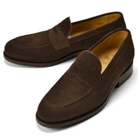 バーウィック BERWICK ローファー 4545 スエード ダークブラウン【ドレスシューズ 革靴 ビジネスシューズ メンズ インポート】