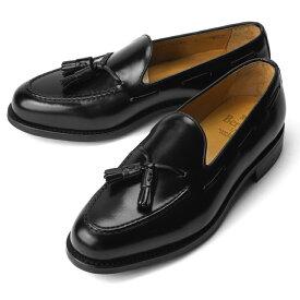 バーウィック BERWICK タッセルローファー 8491-K4 ガラスレザー ブラック【ドレスシューズ 革靴 ビジネスシューズ メンズ インポート】