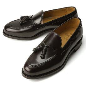バーウィック BERWICK タッセルローファー 8491-K7 ガラスレザー ダークブラウン【ドレスシューズ 革靴 ビジネスシューズ メンズ インポート】