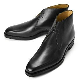 【クリアランス】クロケット&ジョーンズ CROCKETT&JONES チャッカブーツ TETBURY ブラック LAST348 E【メンズ 革靴 ドレスシューズ ビジネスシューズ インポート】