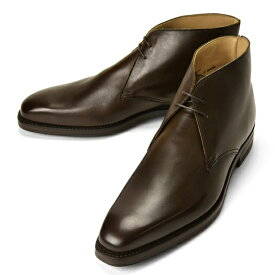 【クリアランス】クロケット&ジョーンズ CROCKETT&JONES チャッカブーツ TETBURY レザー ダークブラウン LAST348 E【メンズ 革靴 ドレスシューズ ビジネスシューズ インポート】