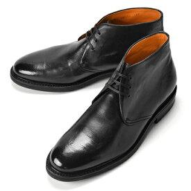 【クリアランス】【返品不可】コードウェイナー CORDWAINER チャッカブーツ 18010 ブラック ビンテージ 【ドレスシューズ 革靴 ビジネスシューズ メンズ インポート】