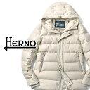 ヘルノ HERNO ステンカラー ダウンジャケット PI0594U-1600 フランネル オフホワイト 中綿 2019秋冬【ビジネス メンズ】