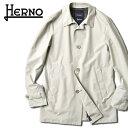 【クリアランス】ヘルノ HERNO ステンカラーコート スプリングコート IM039UL(1300) オフホワイト ハット付き ゴアテックス 撥水 ラミナー 2020春夏
