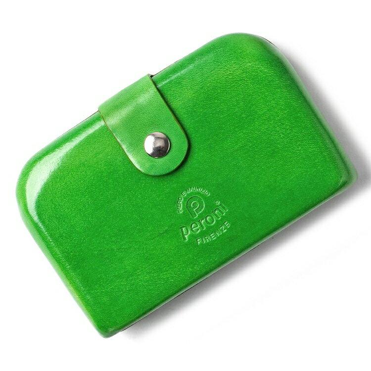 ペローニ PERONI FIRENZE ミニ財布 / 小財布 / スモールウォレット ライトグリーン 黄緑 コインケース / カードケース / 札入れ GIRAMONDO(ジラモンド) 【小さい財布 コンパクト 本革 レザー メンズ レディース】