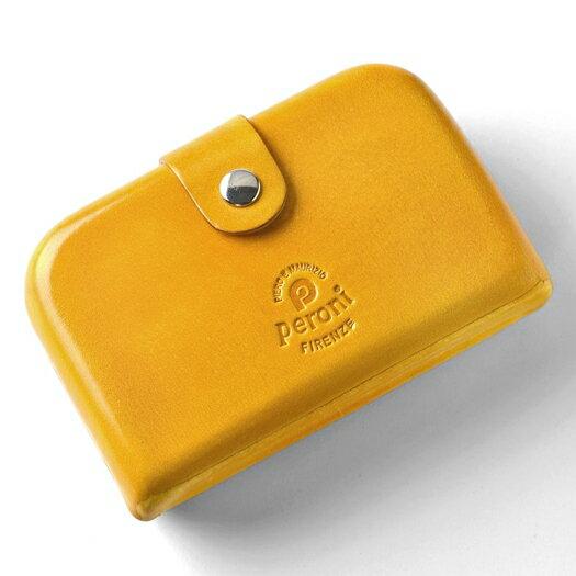ペローニ PERONI FIRENZE ミニ財布 / 小財布 / スモールウォレット イエロー 黄色 コインケース / カードケース / 札入れ GIRAMOND(ジラモンド) 【小さい財布 コンパクト 本革 レザー メンズ レディース】