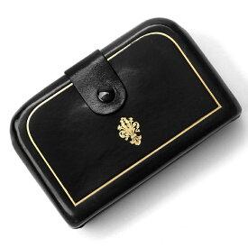 ペローニ PERONI FIRENZE ミニ財布 デコレーション ブラック 黒 ミニウォレット コインケース カードケース 札入れ GIRAMONDO(ジラモンド)【小さい財布 コンパクト 本革 プレゼント メンズ レディース オシャレ 可愛い 軽い】