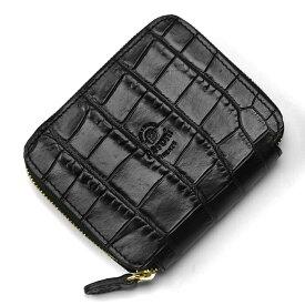 【クリアランス】ペローニ PERONI FIRENZE ミニ財布 型押しクロコ ブラック / メンズ / レディース / ミニジップ / ラウンドファスナー / 小さい財布 / プレゼント 1609/K