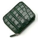 ペローニ PERONI FIRENZE ミニ財布 型押しクロコ グリーン / メンズ / レディース / ミニジップ / ラウンドファスナー…