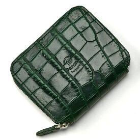 【10/20限定☆エントリーでP19倍】ペローニ PERONI FIRENZE ミニ財布 型押しクロコ グリーン / メンズ / レディース / ミニジップ / ラウンドファスナー / 小さい財布 1609/K