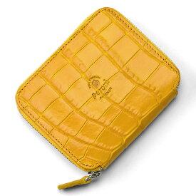 ペローニ PERONI FIRENZE ミニ財布 型押しクロコ イエロー / メンズ / レディース / ミニジップ / ラウンドファスナー / 小さい財布 1609/K