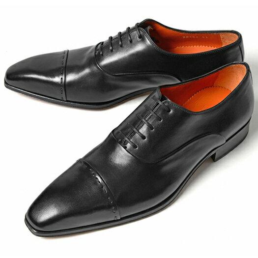 PERTINI ペルティニ ストレートチップ 22186 ブラック【サイズ交換無料】【ドレスシューズ 革靴 ビジネス メンズ インポート】
