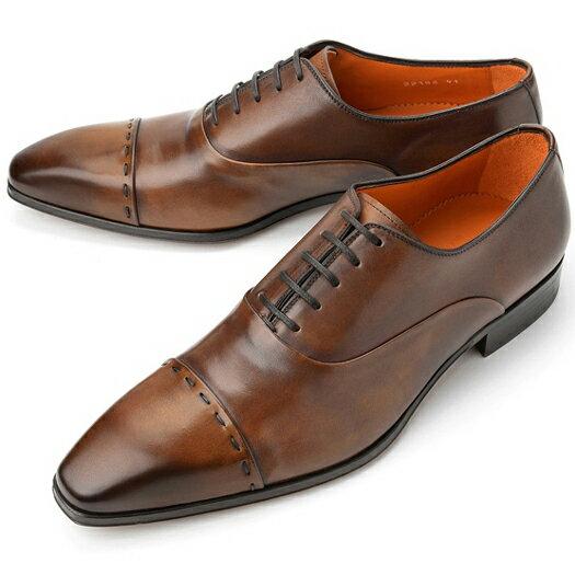 PERTINI ペルティニ ストレートチップ 22186 ブラウン 【サイズ交換無料】【ドレスシューズ 革靴 ビジネス メンズ インポート】