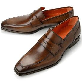 【クリアランス】PERTINI ペルティニ メンズ ローファー 22059 ブラウン【ドレスシューズ 革靴 ビジネスシューズ メンズ インポート】