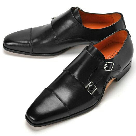 PERTINI ペルティニ オパンケ ダブルモンクストラップ 23564 ブラック 【サイズ交換無料】【ドレスシューズ 革靴 ビジネス メンズ インポート】
