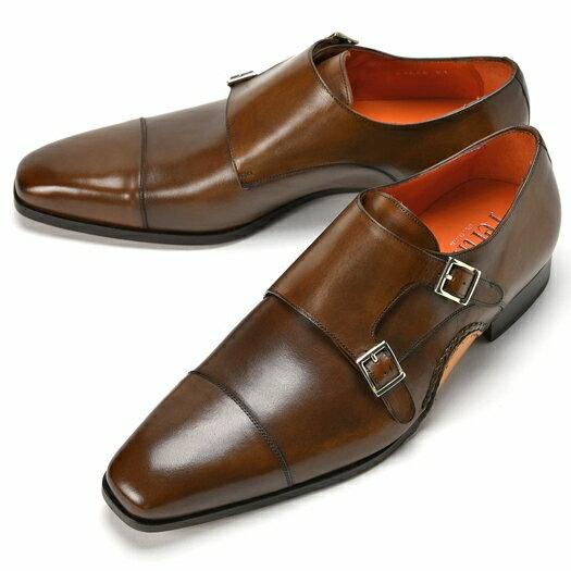 PERTINI ペルティニ オパンケ ダブルモンクストラップ 23564 ブラウン 【サイズ交換無料】【ドレスシューズ 革靴 ビジネス メンズ インポート】