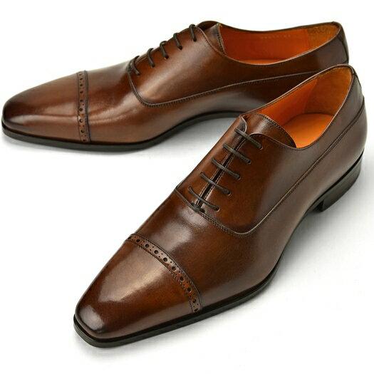 PERTINI ペルティニ ストレートチップ 24211 ブラウン 【サイズ交換無料】【ドレスシューズ 革靴 ビジネス メンズ インポート】