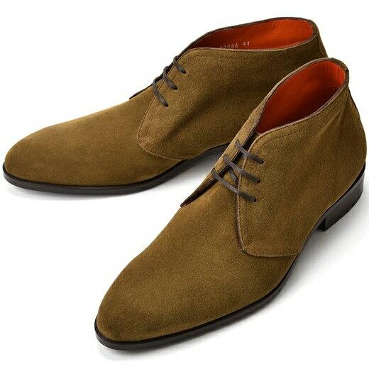 【クリアランスセール】【通常36,720円】PERTINI ペルティニ チャッカブーツ 22986 スエード マロンブラウン【ドレスシューズ 革靴 メンズ インポート】