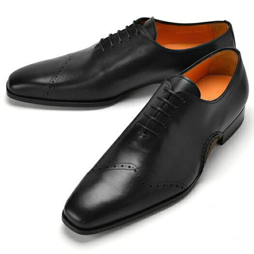 PERTINI ペルティニ オパンケ ホールカット 23290 ブラック 【サイズ交換無料】【ドレスシューズ 革靴 ビジネス メンズ インポート】