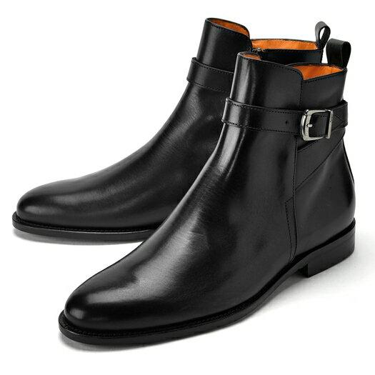 【クリアランスセール】【通常43,200円】PERTINI ペルティニ ジョッパーブーツ 24287 ブラック 【ドレスシューズ 革靴 ビジネス メンズ インポート】