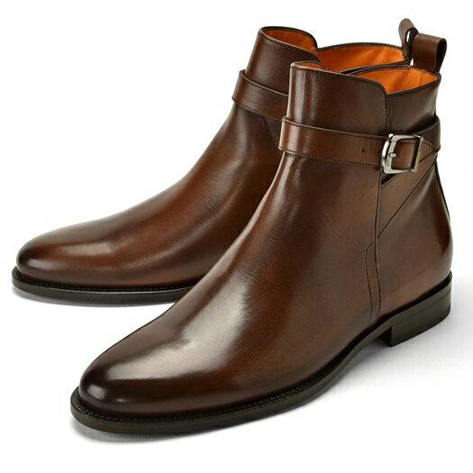【クリアランスセール】【通常43,200円】PERTINI ペルティニ ジョッパーブーツ 24287 ブラウン 【ドレスシューズ 革靴 ビジネス メンズ インポート】