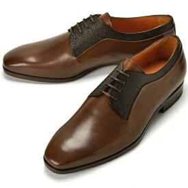 【クリアランス】【返品不可】PERTINI ペルティニ グレイン切替プレーントゥ 24580 ブラウン【ドレスシューズ 革靴 ビジネスシューズ メンズ インポート】