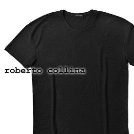 【クリアランス】ロベルトコリーナ roberto collina Tシャツ オーバーサイズ 90121 ブラック 春夏