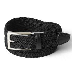 サドラーズ Saddler's ファインメッシュベルト 【3.2cm幅】 G01 ブラック 【メンズ ベルト ビジネス イタリア】