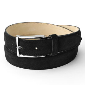 サドラーズ Saddler's スエードベルト SG02 ブラック【3.0cm幅】【メンズ ベルト ビジネス イタリア】